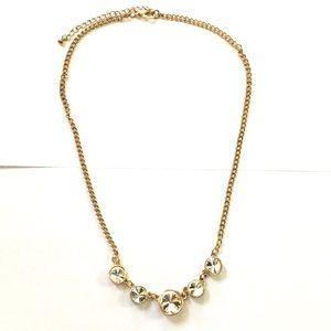 Rhinestone gold necklace